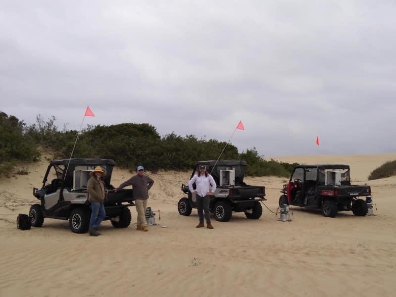 Researchers measure dust emissions at Oceano Dunes.
