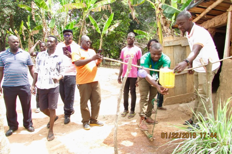 Photo of WASH students in the field in Ghana