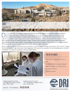 Thumbnail image of About DRI fact sheet