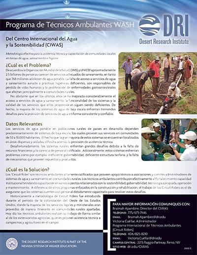 Circuit Rider Program Fact Sheet in Spanish