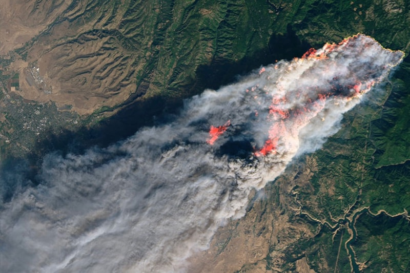 NASA satellite imagery demonstrates the immensity of the 2018 Camp Fire.