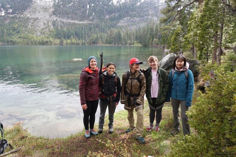 DRI's microplastics research team at Lake Tahoe