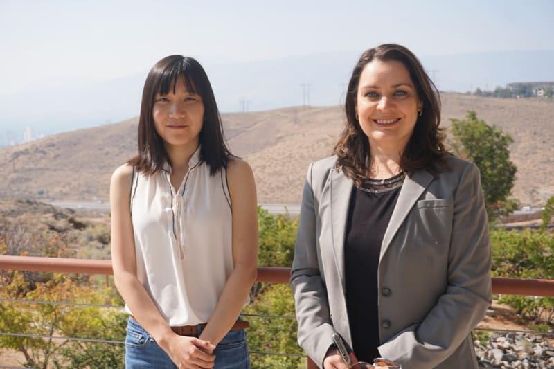 Yi Zhang (left) and Vera Samburova (right) on DRI's Reno Campus.