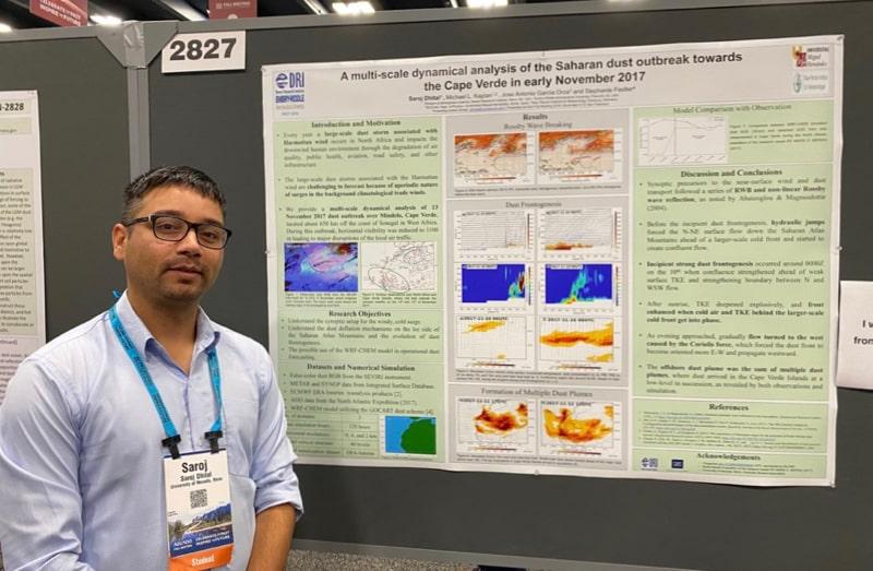 DRI researcher Saroj Dhital