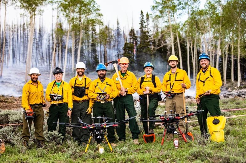 DRI team at FASMEE research burn in Idaho