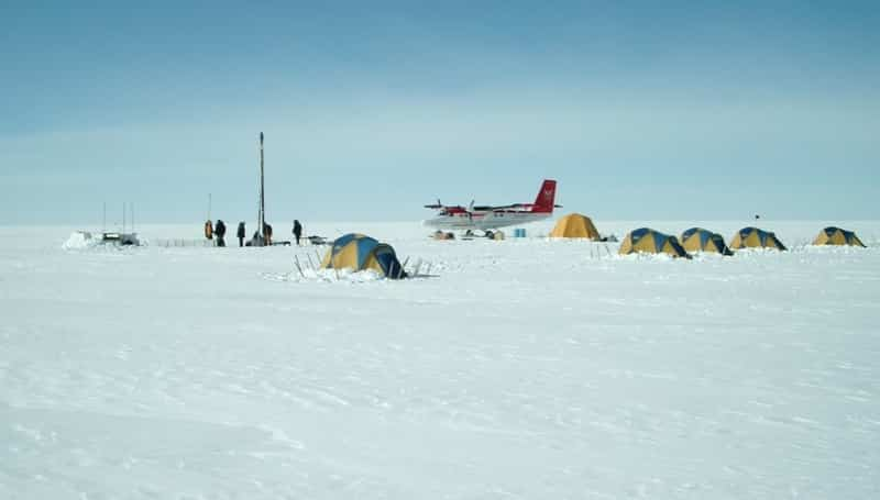 Research field camp in Greenland.