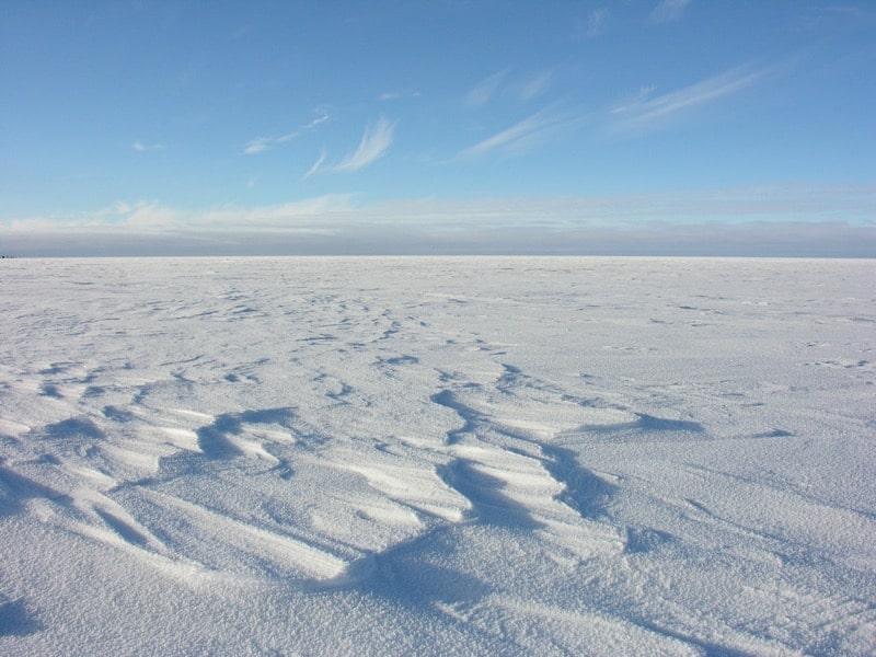 The landscape at the WAIS Divide, Antarctica. Credit: Kendrick Taylor, Ph.D., emeritus research professor.
