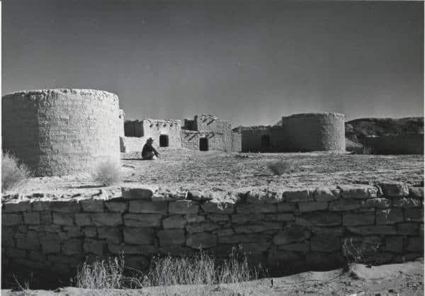 Ruins of houses at Lost City, Nevada.