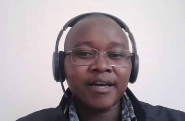 WASHCap program alumni Martin Mutisya is currently a program manager for WASH WorldVision in Sudan. Credit: DRI.