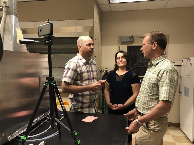 RGJ reporter interviews OAL team for FB live