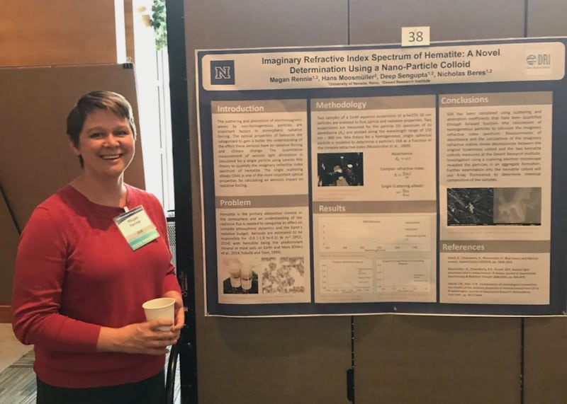 Meghan Rennie, a Master's student in atmospheric sciences at DRI.