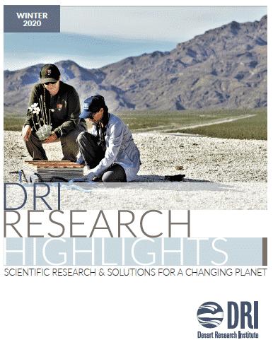 Cover image of DRI's semi-annual report for winter 2020-2021