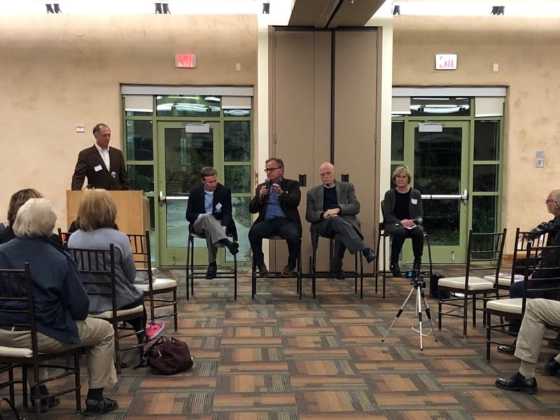 Photo of speakers at the Solar Nexus panel event held at the Springs Preserve in Las Vegas.