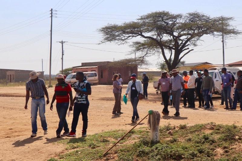 Students from DRI's WASH Capacity Building Program take a field trip to eSwatini's Buka Community. September 2018. Credit: Braimah Apambire/DRI.