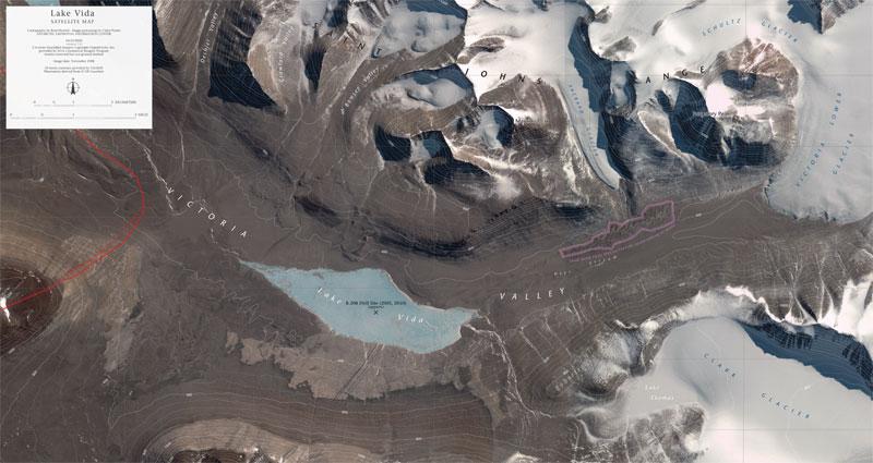 map of lake vida antarctica